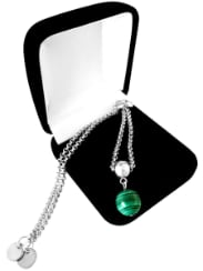 "Браслет ""Charm Queen Platinum Malachite"""